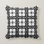 Black and White Ripples Small Pillow