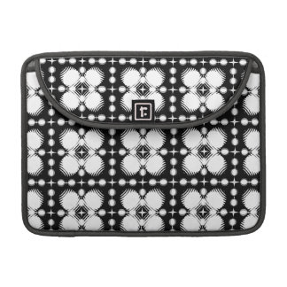 Black and White Ripples Small Sleeve For MacBooks