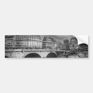 Black and White River Seine Bumper Sticker