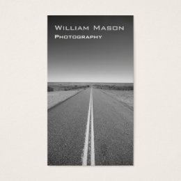 Black and White Road Photography - Business Card