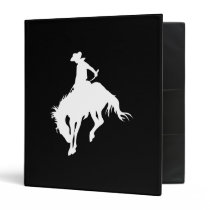 Black and White Rodeo Cowboy Binder