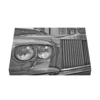 Black and White Rolls Royce Canvas Print