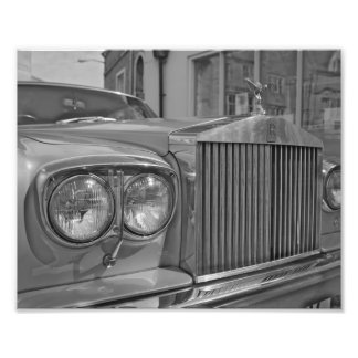 Black and White Rolls Royce Photo Print