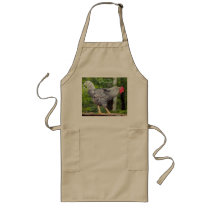 Black and white Rooster on Apron