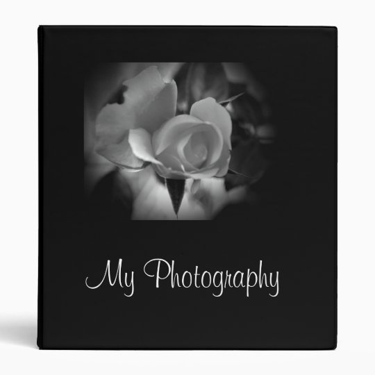 Black and White Rose Binder