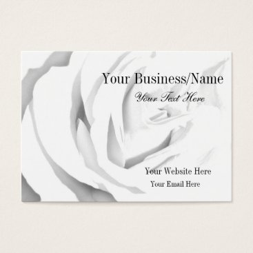 Beach Themed Black and White Rose Business Card