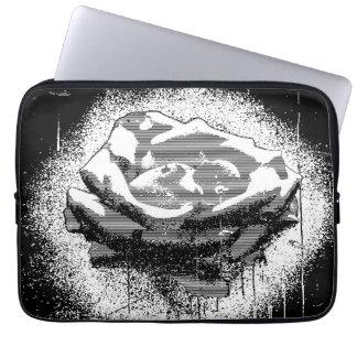 Black And White Rose Fine Art Laptop Sleeves