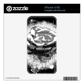 Black And White Rose Fine Art Skin For iPhone 4S
