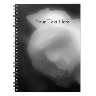 Black And White Rose Flower Notebook