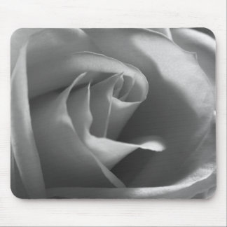 Black-and-White-Rose Mouse Pad
