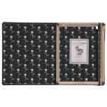 Black and White Rose Pattern. iPad Case