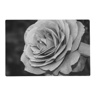 Black and White Rose Placemat