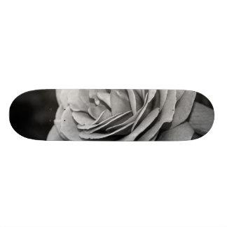 Black and White Rose Skateboard Deck