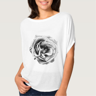 Black and White Rose - T-shirt