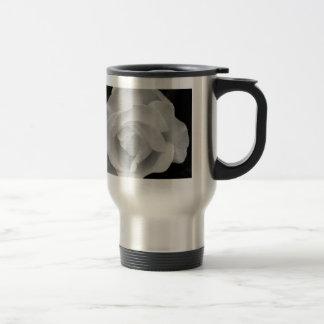 Black and White Rose Travel Mug