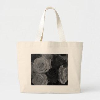 Black and White Roses Bag