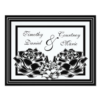 Black and White Roses Card