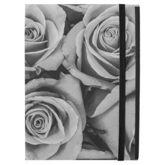 Black and White Roses iPad Case