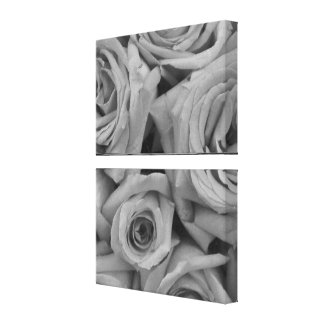 Black and White Roses Photo Gallery Wrapped Canvas