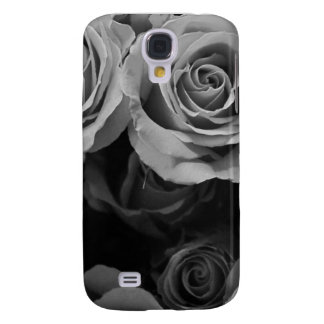 Black and White Roses Samsung Galaxy S4 Cases