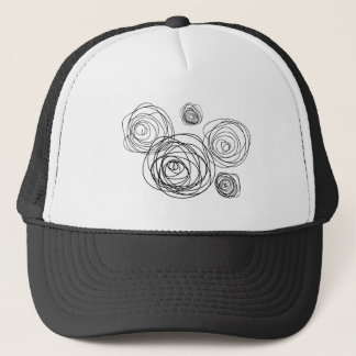 Black And White Roses Trucker Hat