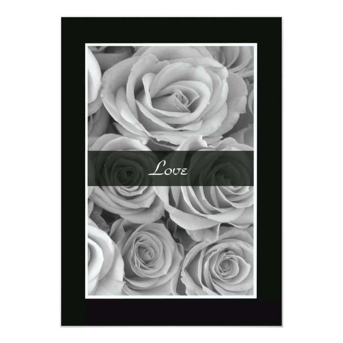 Black and White Roses Vow Renewal Card
