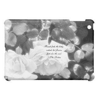 Black and White Roses-with Koran quote Cover For The iPad Mini