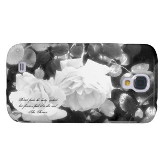 Black and White Roses-with Koran Quote Samsung Galaxy S4 Case