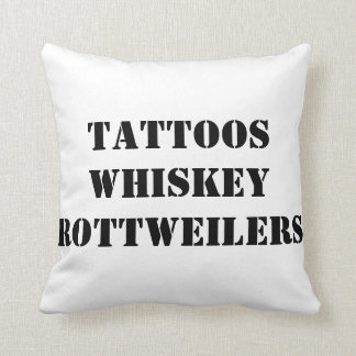 Black and White Rottweiler Throw Pillow