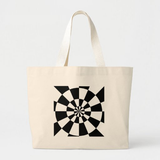 Black and White Round Spiral Bag