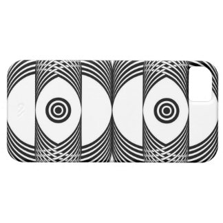 Black and white round weave iPhone SE/5/5s case