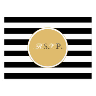 Black and white rsvp card large business card