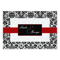 black and white rsvp cards standard 3.5 x 5