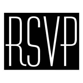 Black and White RSVP Postcard