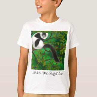 Black and White Ruffed Kids T-Shirt