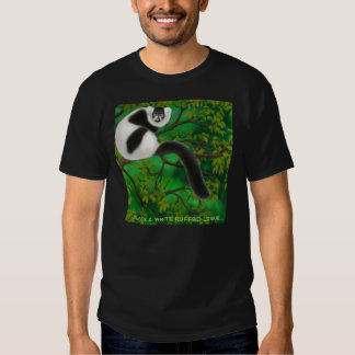 Black and White Ruffed Lemur Dark T-Shirt
