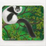 Black and White Ruffed Lemur Mousepad