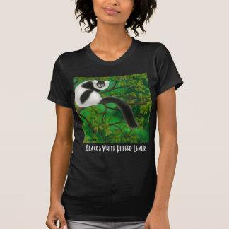 Black and White Ruffed Lemur Petite T-Shirt