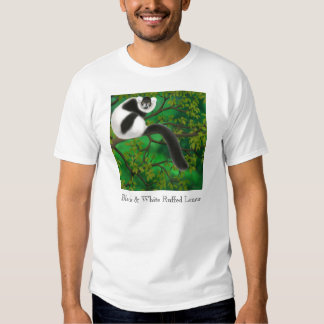 Black and White Ruffed Lemur T-Shirt