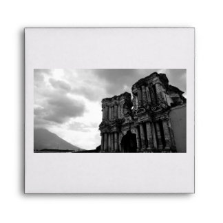 Black and white Ruins of Antigua Guatemala Envelope