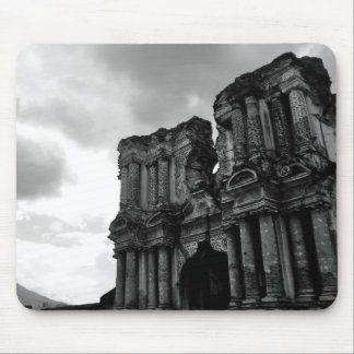 Black and white Ruins of Antigua Guatemala Mouse Pad