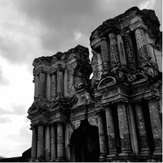 Black and white Ruins of Antigua Guatemala Statuette