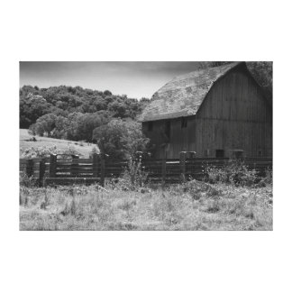 Black and White Rustic Barn Canvas Print