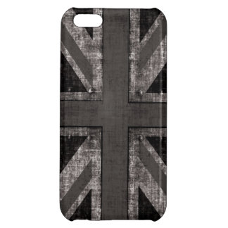 black and white rustic grunge Union Jack Cover For iPhone 5C