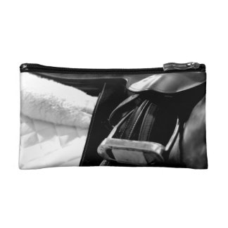 Black and White Saddle Cosmetic Bag