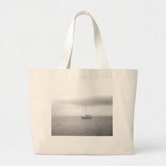 Black and White Sailboat Photo Tote Bags