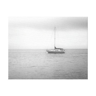 Black and White Sailboat Photo Canvas Prints