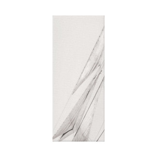 Black and White Sails Stretched Canvas Print