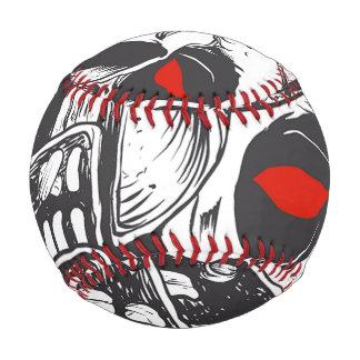 black and white samurai helmet with skull baseball
