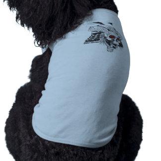 black and white samurai helmet with skull T-Shirt